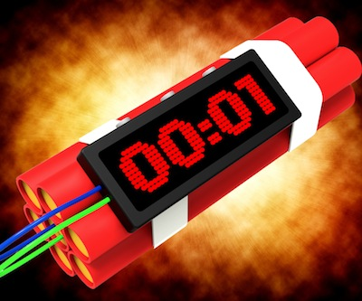 Dynamite Deadline Time Shows Urgency Or Explosion