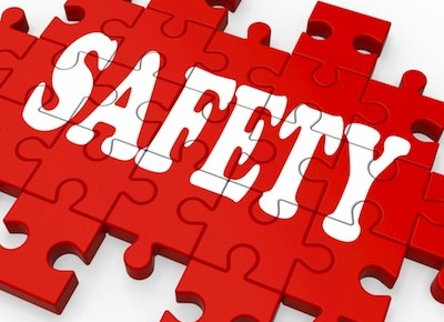 Safety Puzzle Showing Company Security And Insurance
