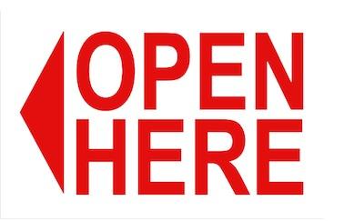 open here